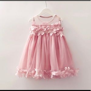 Other - NWT Girls Casual Pink Leafy Dress